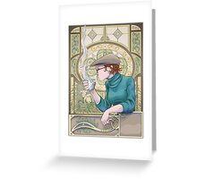 Nouveau Barista Greeting Card