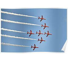 Red Arrows Over Lyme, Dorset Uk -2 Poster