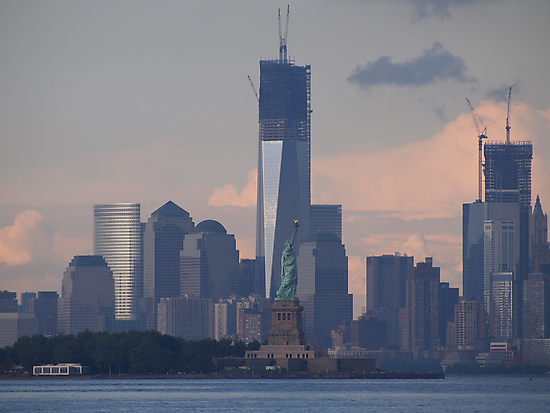 one world trade center; 7/29/2012 by Kevin Koepke