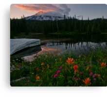 Mount Rainier Summer Canvas Print