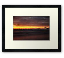 seaspray. eastcoast, tasmania  Framed Print