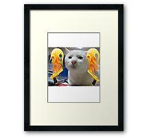 Atomic Cat Framed Print