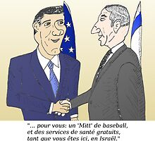 Mitt et Bibi en caricature des news options binaire by Binary-Options