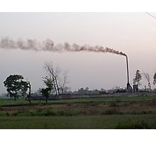Spewing smoke and pollution into a green rural environment Photographic Print