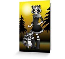 Twisted - Wild Tales: Ayasha and the Raccoon Greeting Card