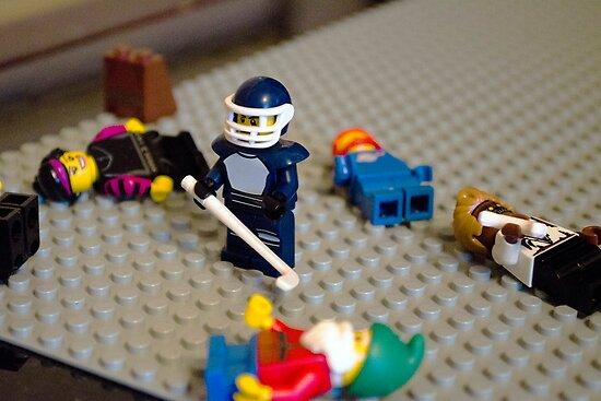 Lego Hockey Player by Luke Dart