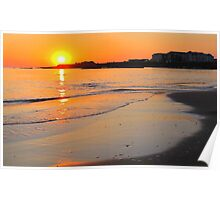 Spanish Point - The Armada at Sunset Poster