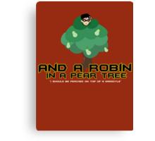 Robin in a Pear Tree - Print Canvas Print