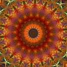 Orange Earth Mandala iPhone case by Vicki Field