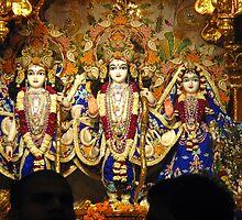 Statues of Ram, Lakshman and Sita at the ISKCON temple in Delhi by ashishagarwal74