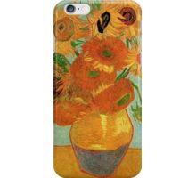 Vase with Twelve Sunflowers, Vincent van Gogh iPhone Case/Skin