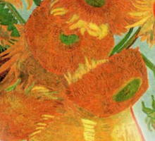Vase with Twelve Sunflowers, Vincent van Gogh Sticker