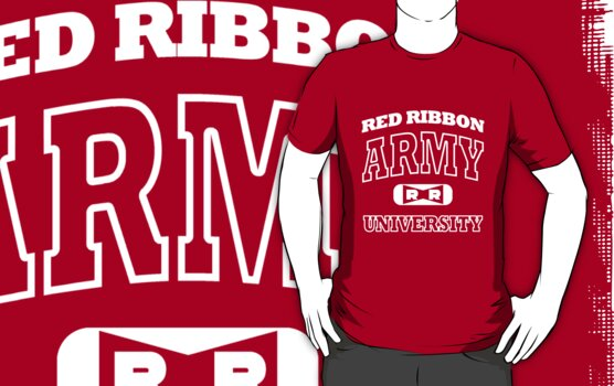 Red Ribbon Army University tee (white) by karlangas