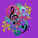 Music swirl iPhone case (purple) by Vicki Field