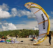 Kiting... by Adri  Padmos