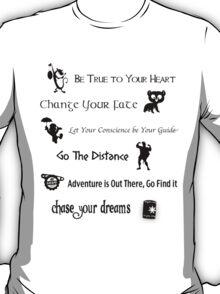 Disney Lessons learned 2 (Black) T-Shirt