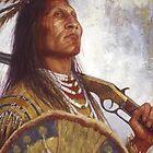 Warrior & his Winchester, Blackfoot, Native American Art, James Ayers Studios by JamesAyers