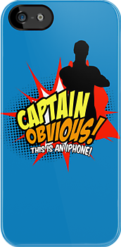 Captain Obvious iPhone by KentZonestar