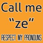 Ze/zir prounouns by Elliot Downes