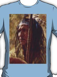 Resolute Strength, Blackfoot, Native American Art, James Ayers Studios T-Shirt