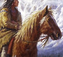 Warriors of the High Country (2), Ute, Native American paintings, James Ayers Studios by JamesAyers