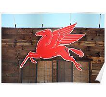 Route 66 - Mobil Pegasus Poster