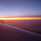 Dawn, North Atlantic, 33000 ft by Ross Sharp