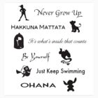 Disney lessons learned STICKER by ashleykathrine