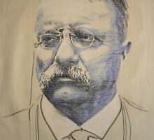 teddy roosevelt, 1858 - 1919 by Peter Brandt