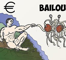 Euro Bailout as Man touched by Flying Spaghetti Monster by Binary-Options