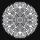 Mandala 47 Black and White T-Shirts & Hoodies by mandala-jim