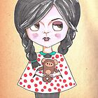 Priscilla and her Peg Bear by Jhoanna Monte Aranez