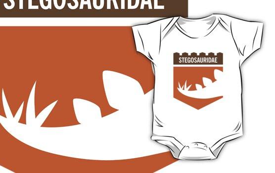 Dinosaur Family Crest: Stegosauridae by David Orr