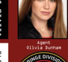 Fringe Parallel Universe Olivia Dunham ID Badge Shirt Sticker