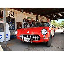 Route 66 Corvette Photographic Print