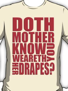AVENGERS - Doth Mother Know... T-Shirt
