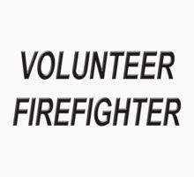 VOLUNTEER FIREFIGHTER black sticker by thatstickerguy