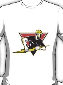 Electrician Lightning Bolt Retro T-Shirt