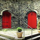 Red Doors by Caroline Fournier