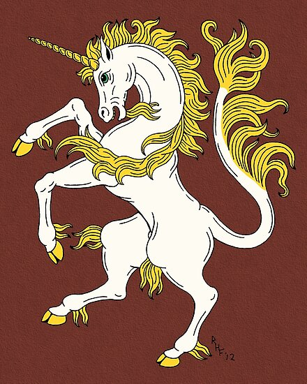 Unicorn Rampant by Richard Fay
