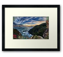 2317-Minimized by Time Framed Print