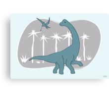 Giraffatitan and Rhamphorynchus Canvas Print