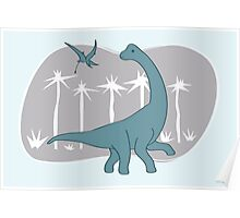 Giraffatitan and Rhamphorynchus Poster