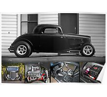 Phil Retford's 1933 Ford Coupe - Poster Poster