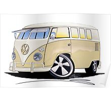 VW Splitty (11 Window) Camper Poster