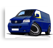 VW T5 Transporter Van Indian Blue Canvas Print