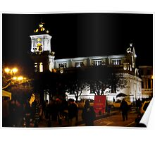 Old Cathedral At Night, Cuenca, Ecuador Poster