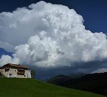 Below the Thunder Cloud - Tyrol, Italy by Kat Simmons