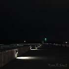 Mount Batten Pier at Night by Simon R. Court
