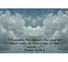 """""""Psalm 104:3""""  by Carter L. Shepard Photographic Print"""